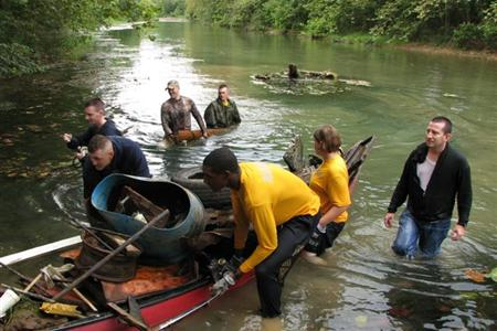Members of Roubidoux Fly Fishers still organize an annual river clean-up. courtesy of Missouri Stream Team