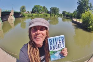 """Author and Adventurer Rod Wellington shows off his second self-published book """"River Angels"""" a behind-the-scenes look at the folks that make adventure possible in the modern age.   photo courtesy of Crow Books. https://crowbooks.ca/"""
